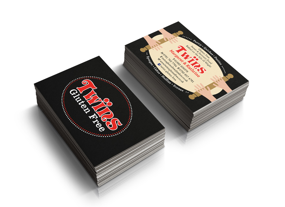 Gluten Free Food Business Card Design