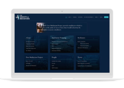 The Society of Mediators Website Design