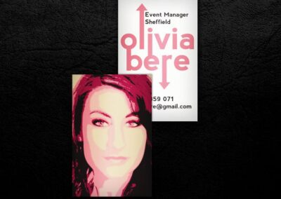 Event Manager Business Card Design