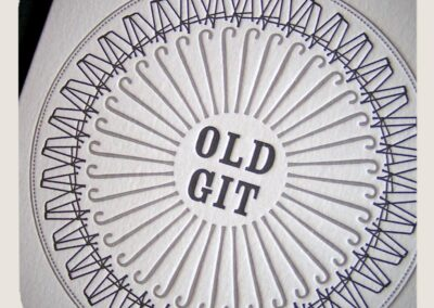 'Old Git' Letterpress Birthday Card Design