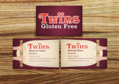 Twins Gluten Free Business Card Design