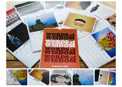 Words of Wisdom Calendar Design